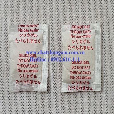 Gói hút ẩm 2gr Cotton chữ nhật màu đỏ